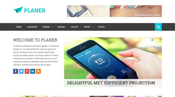 Planer Blogger Template