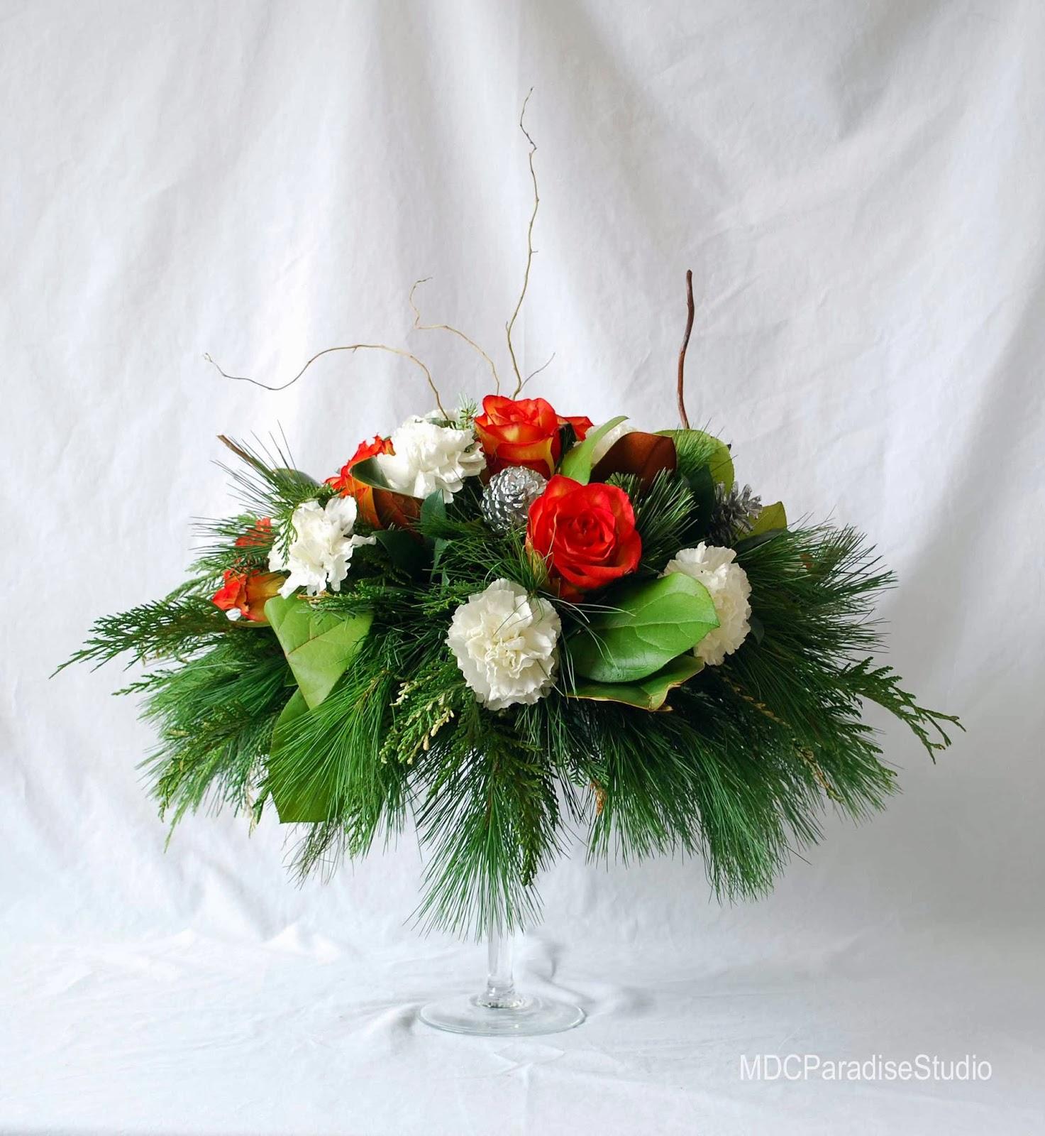 Contemporary Christmas Flower Arrangements