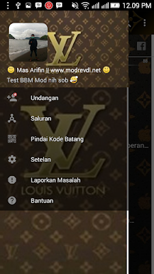 BBM MOD Louis Vuitton Chocolate v3.2.0.6 APK (BBM Tema Elegant) Update 2016