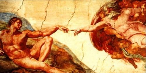 A criação do homem. #PraCegoVer