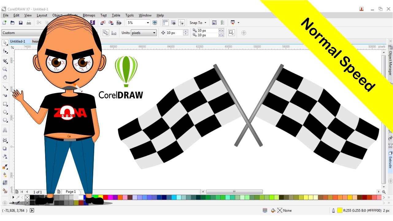 20+ Desain Spanduk Dengan Corel Draw X7