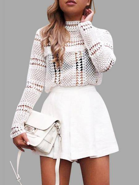 ladies fashion white blouse