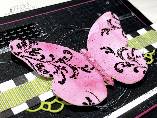 #cardbomb, #stampinup, #tgifc158, #color, #challengeblog, #butterfly, #stamps, #ink, #paper, #papercraft, grunge, #petalpallette, #card, craft, #create,