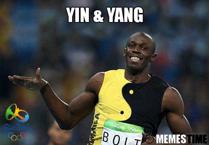 Memes Time Usain Bolt Rio 2016 – Yin & Yang