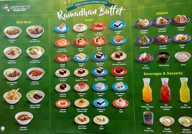 Sushi King Ramadhan Buffet Menu Rice Meal Sushi Item Choice