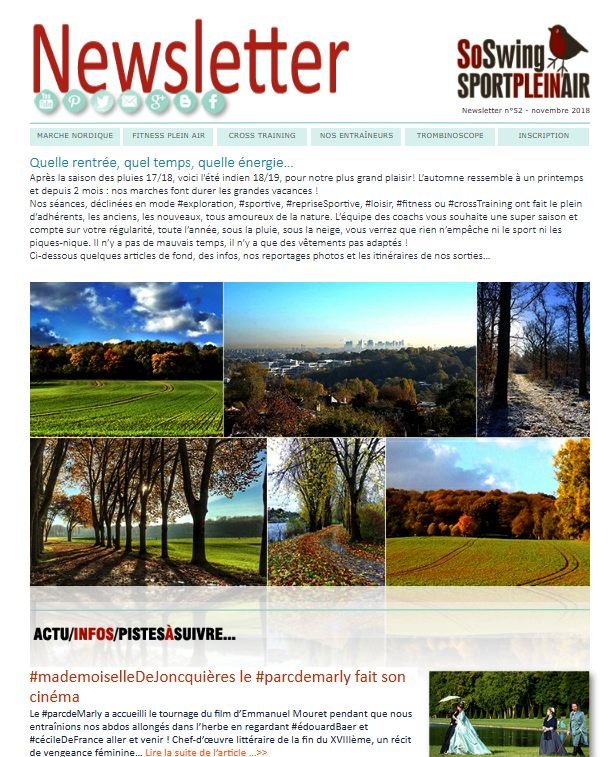 La Newsletter du club...