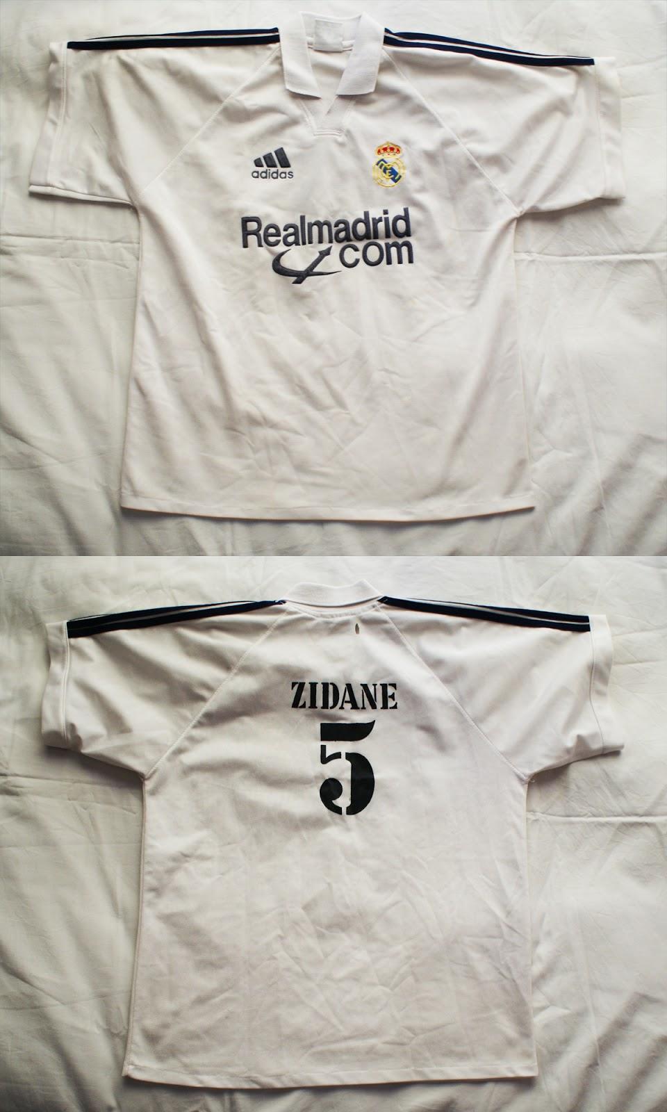 1º Camiseta Real Madrid 2001 2002 007b45211868b