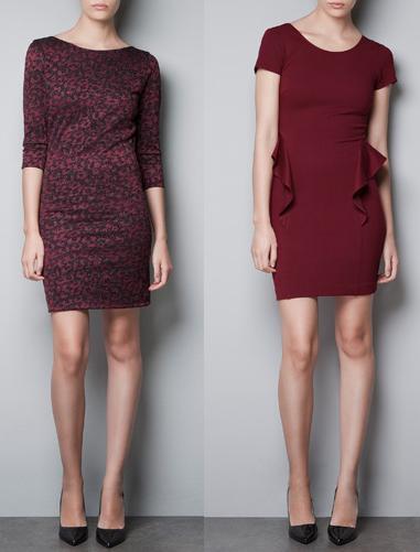 vestidos trf otoño invierno 2012 2013