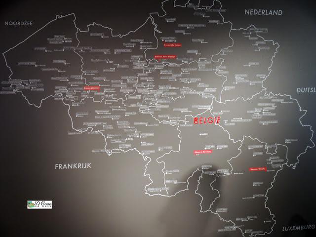 mapa cerveja belga