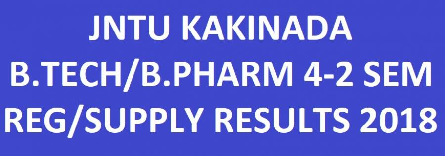 JNTUK B.Tech/B.Pharmacy 4-2 Sem Regular Supply Results