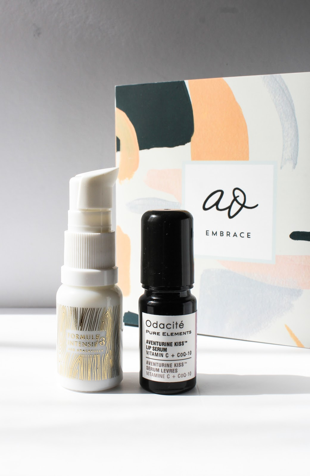 September Art of Organics Clean Beauty Box EMBRACE Odacite Aventurine Kiss Lip Serum, Wabi-Sabi Botanicals Age Gracefully