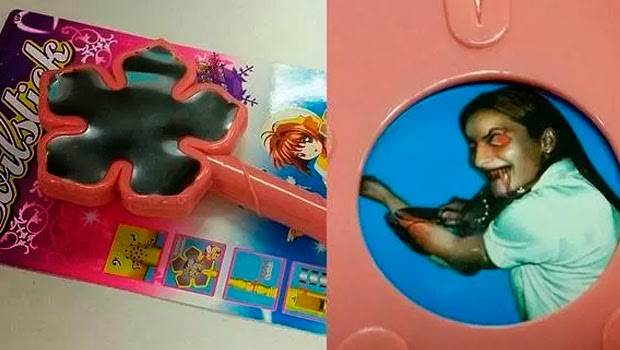 Brinquedo chamado varinha do mal levava imagem escondida de criança possuída cortando os pulsos