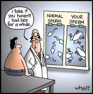 Funny doctor semen sperm count sample joke cartoon picture