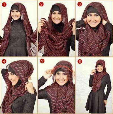Cara Memakai Jilbab Pashmina Untuk Wajah Bulat
