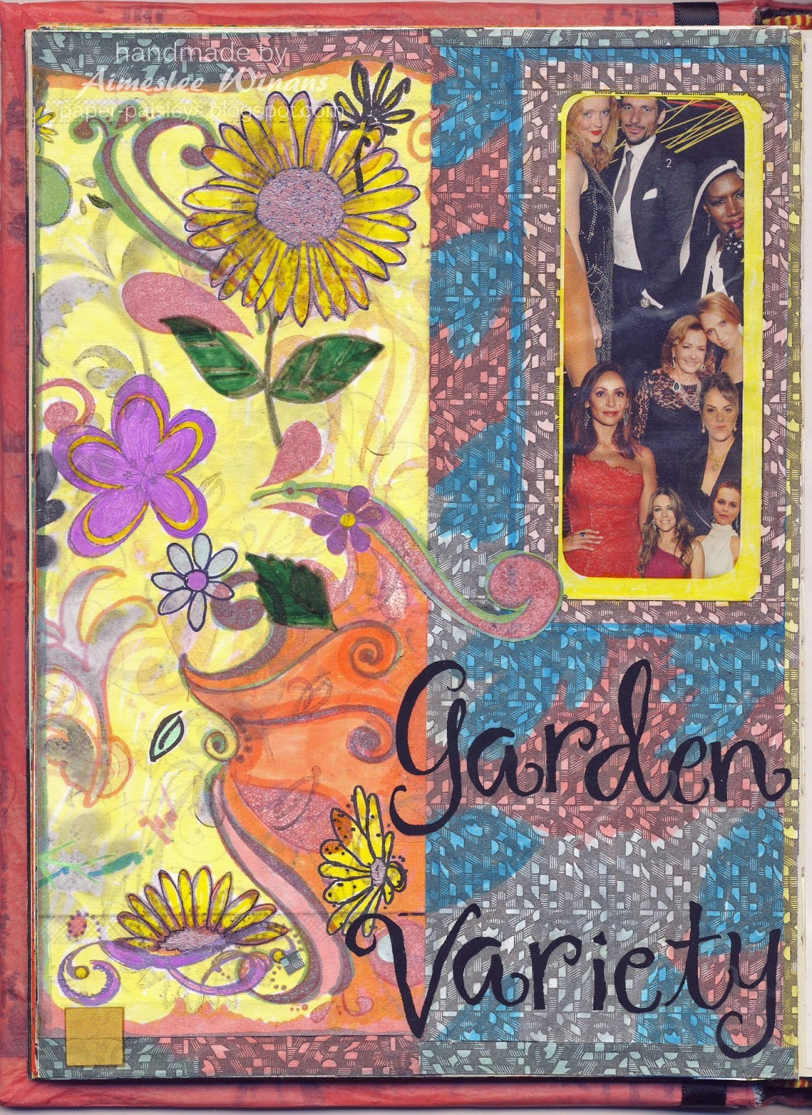 Paper Paisleys Art Adventures Garden Variety Art Journal Page