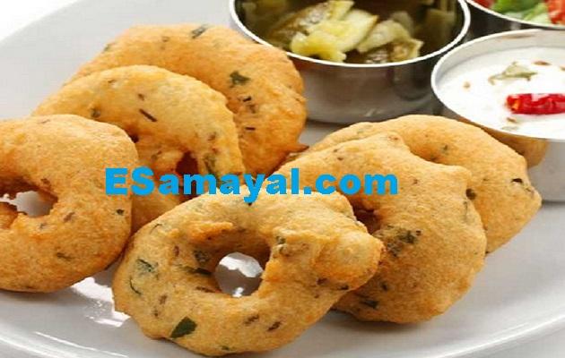 உளுந்து வடை செய்முறை / Urad Vadai Recipe !