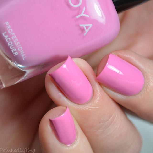 soft pink nail polish
