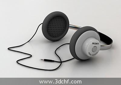 free 3d model headphone