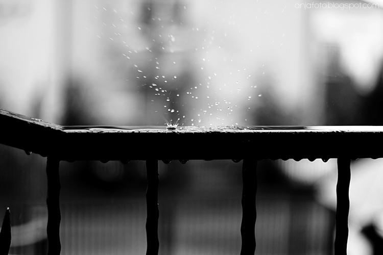 rain, rain drops,krople, fotografia czarno biała, black and white, minimalizm, fotografia minimalistyczna