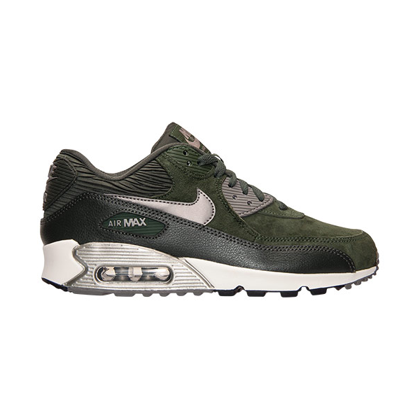 fd2417c42b Nike Womens Air Max 90 Leather. Carbon Green, Sequoia, Sail, Metallic  Pewter. 768887-301