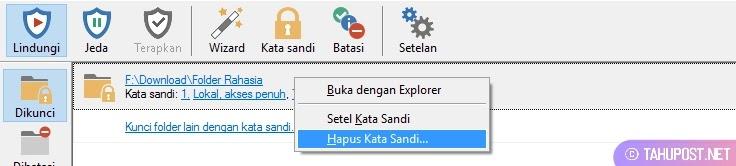 Hapus Password Folder
