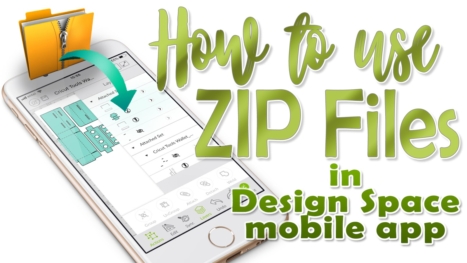 Awesome SVGs: Using ZIP Files with Design Space Mobile App