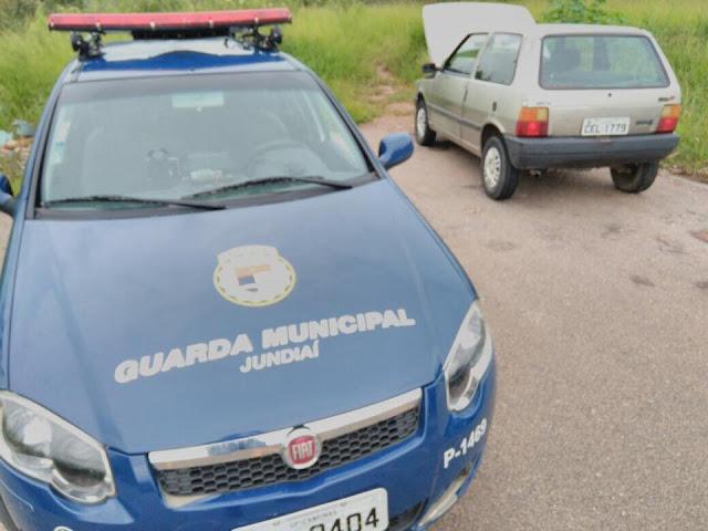 Drogas e veículo roubado são localizados pela Guarda Municipal no Jundiaí Mirim em Jundiaí