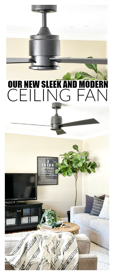 Sleek and modern ceiling fan