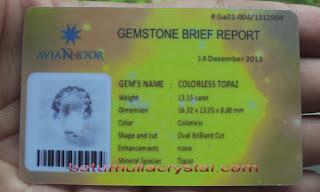 sertifikat batu mulia Jogjakarta