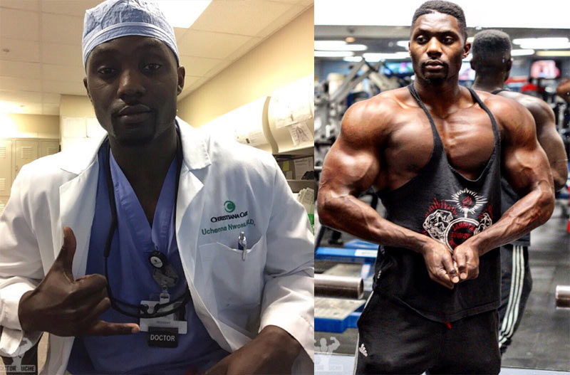 US-based Naija medical doctor Uchenna Nwosu breaks the Internet with his machine gun body