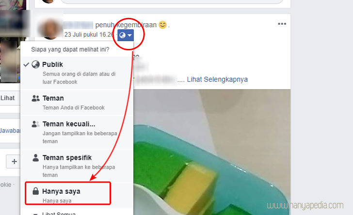 cara mengunci kiriman terdahulu di facebook
