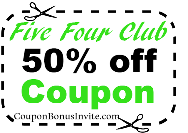 50% off FiveFourClub Coupon Code 2018 Jan, Feb, March, April, May, June, July