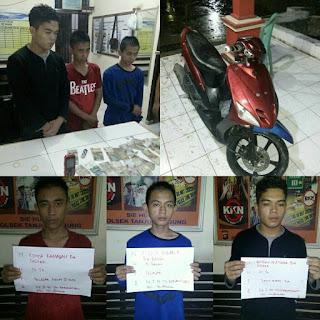 Lakukan Pungli, Tiga Pemuda Muara Enim Ditangkap Polisi
