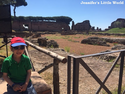 Child at the Forum in Rome