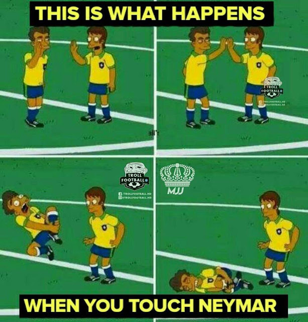 7 Meme Nyindir 'Neymar Diving' Saat Lawan Swiss, Kocak Parah!