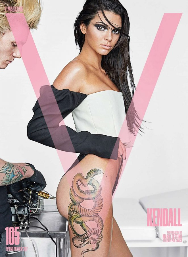 Kendall Jenner – Inked For V Magazine
