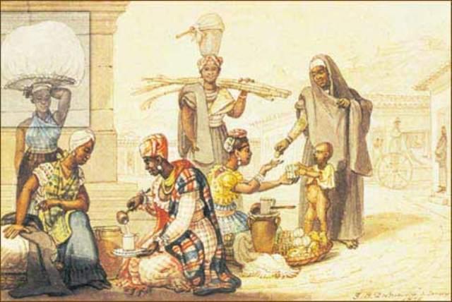 """Ao fundar a indústria do açúcar, o português criou a do álcool. E se o estado de embriaguez indígena ou africana resultava da quantidade de líquidos fermentados, a rapidez com que eles se embriagavam com cachaça, aguardente de cana destilada dos alambiques, surpreendia. A mais antiga notícia sobre o assunto é dada pelo viajante François Pyrard de Laval em 1610: """"Faz-se vinho com o sumo da cana, que é barato, mas só para os escravos e filhos da terra""""."""
