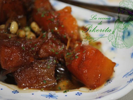 Calabaza con salsa de Tamari