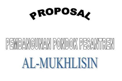Proposal Pengajuan Prasarana Pondok Pesantren 2017