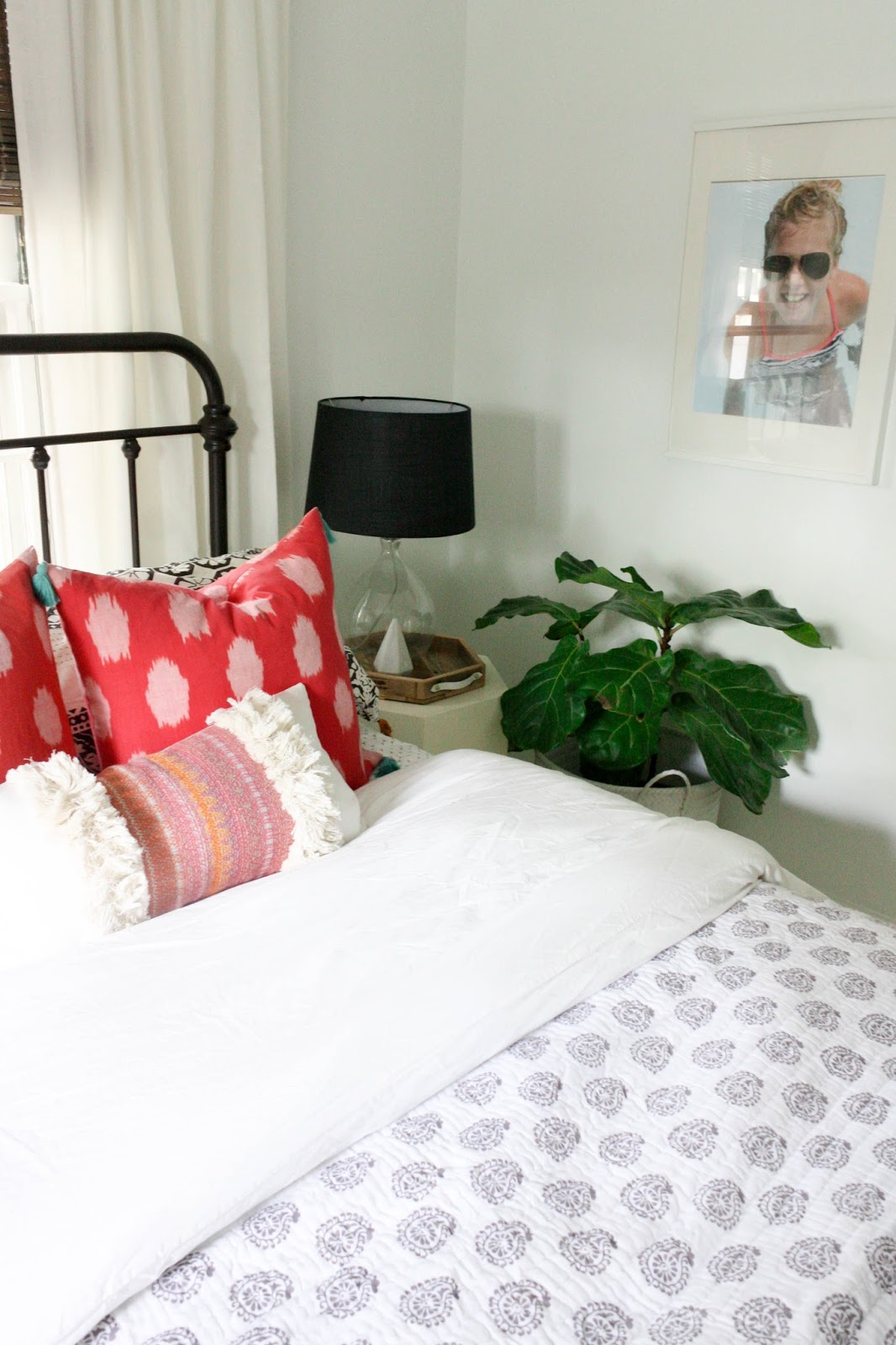 renovations and progress 1 gets a new space of her own house the bedding is a mixture of some of my favorite ikea essential pieces ballard designs homegoods anthropologie and her favorite this pillow from taisa