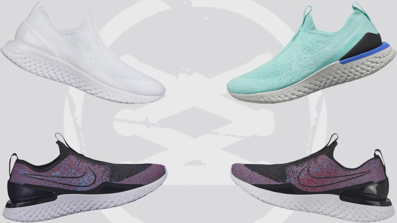 f2e0bf7eccb1f2 Nike hat die allererste schnürsenkellose Version für ihre Nike Epic Phantom  React Flyknit Laufschuhe enthüllt. Der Schuh heißt Laceless Nike Epic  Phantom ...