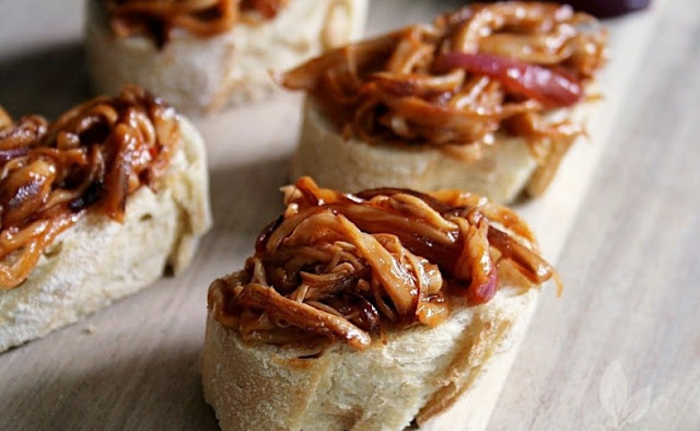 Mushroom Pulled Pork #vegetarian #meatless