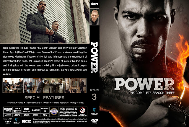 Capa DVD Power Terceira Temporada Completa