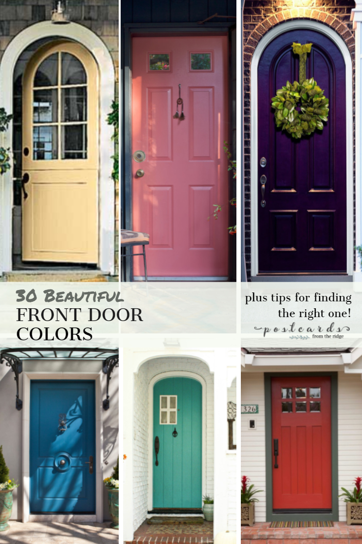 30 Front Door Colors with tips for choosing the right one  sc 1 st  Postcards from the Ridge & 30 Front Door Colors with tips for choosing the right one ...