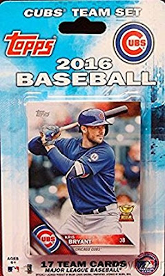 Chicago Cubs 2016 Topps baseball card pack factory sealed