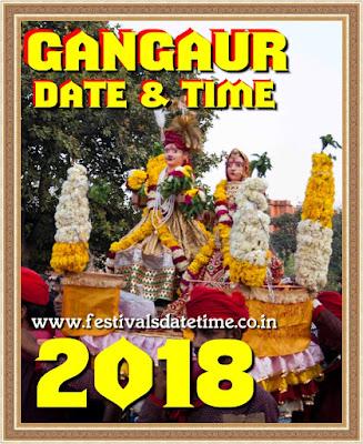 2018 Gangaur Hindu Festival Date & Time in India