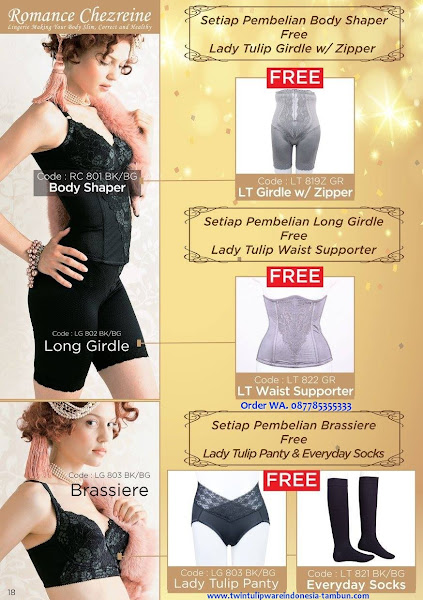 Promo Diskon Desember 2017, Lady Tulip, Body Shaper, Long Girdle, Brassiere