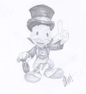 迪士尼插画研究:《木偶奇遇记》中的蟋蟀吉米尼