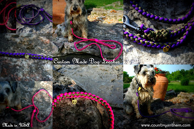 Custom Made Paracord Dog Leashes