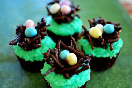 Bird nest cupcakes cakes